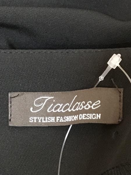Tiaclasse(ティアクラッセ) ジャケット サイズ7 S レディース 黒 ショート丈/リボン