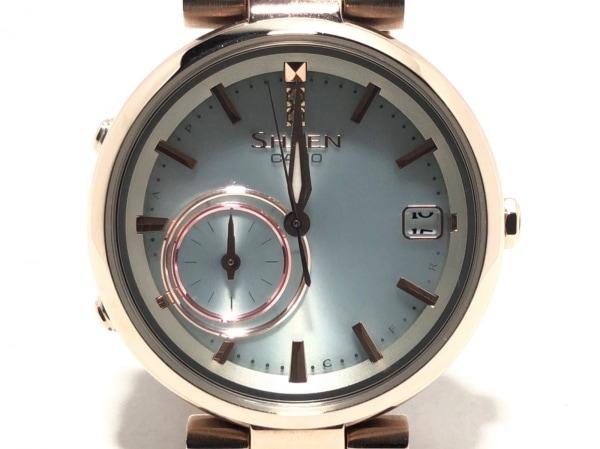 カシオ 腕時計 SHEEN SHB-100 レディース 革ベルト/スマートフォンリンク シルバー