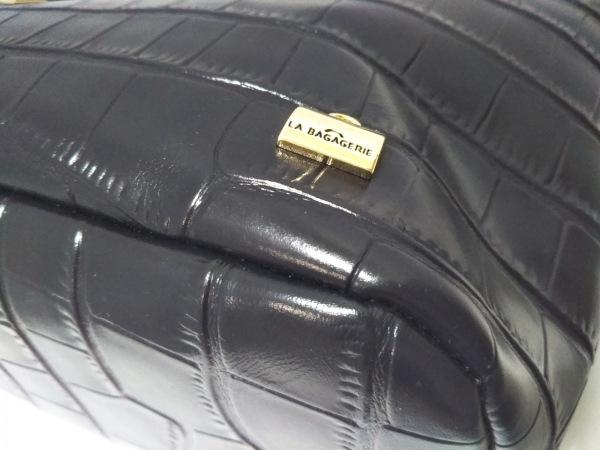 LA BAGAGERIE(ラバガジェリー) ショルダーバッグ美品  黒 レザー