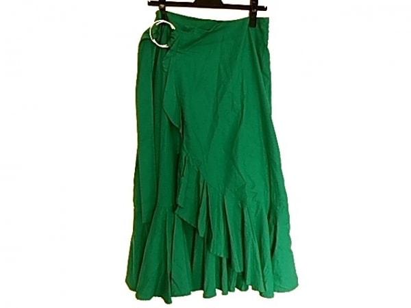 ミラオーウェン ロングスカート サイズ0 XS レディース美品  グリーン フリル