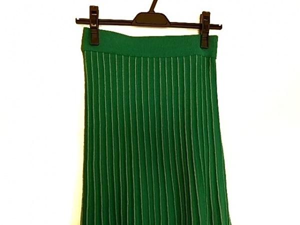 ミラオーウェン ロングスカート サイズF  F レディース グリーン×アイボリー