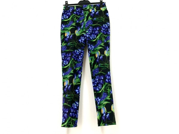 MADAME HIROKO(マダムヒロコ) パンツ サイズ9 M レディース美品  黒×マルチ 花柄