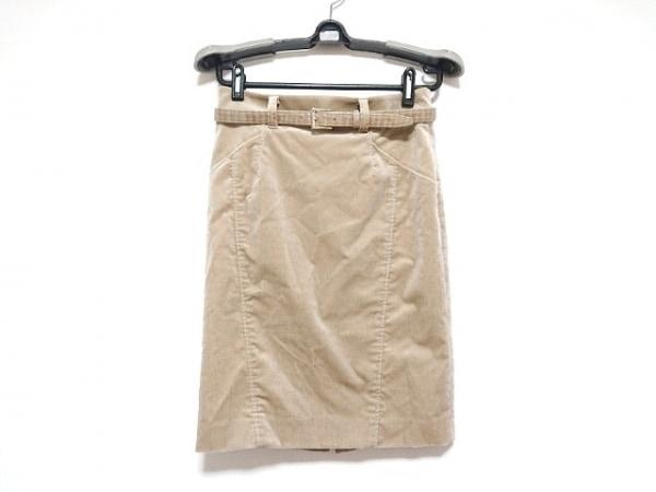 ピンキー&ダイアン スカート サイズ36 S レディース美品  ベージュ ベロア