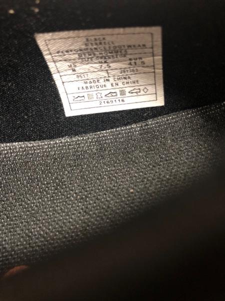 MERRELL(メレル) シューズ 8 メンズ美品  黒×グレー メッシュ 化学繊維×スエード
