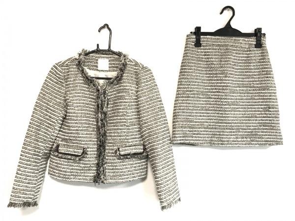 aquagirl(アクアガール) スカートスーツ レディース美品  黒×白×ベージュ