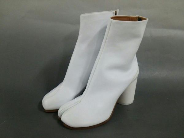 メゾンマルジェラ ショートブーツ 38 レディース美品  S58WU0241 白 足袋ブーツ