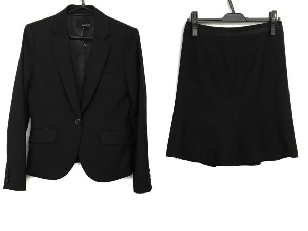 ヴァンドゥ オクトーブル スカートスーツ サイズ38 M レディース 黒 肩パッド