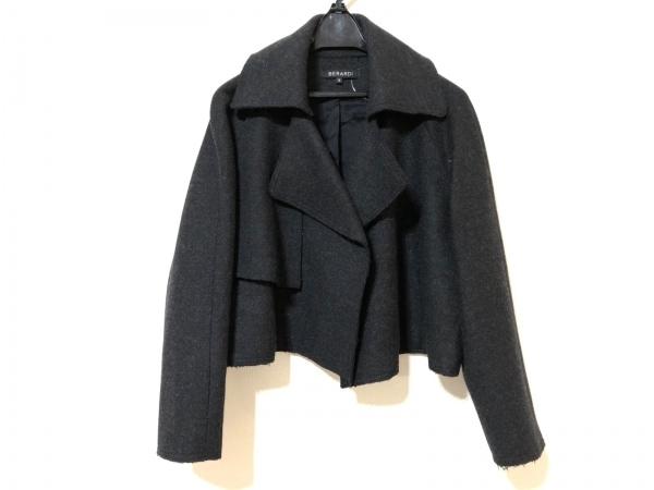 BERARDI(ベラルディ) ジャケット サイズ2 M レディース 黒 冬物/ショート丈