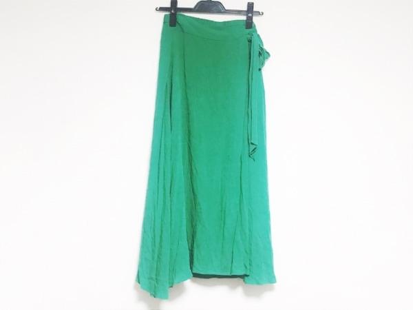 ミラオーウェン ロングスカート サイズ0 XS レディース美品  グリーン リボン