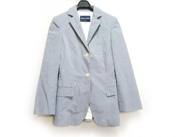 ジョルジオアルマーニクラシコ ジャケット サイズ36 S レディース ネイビー×白