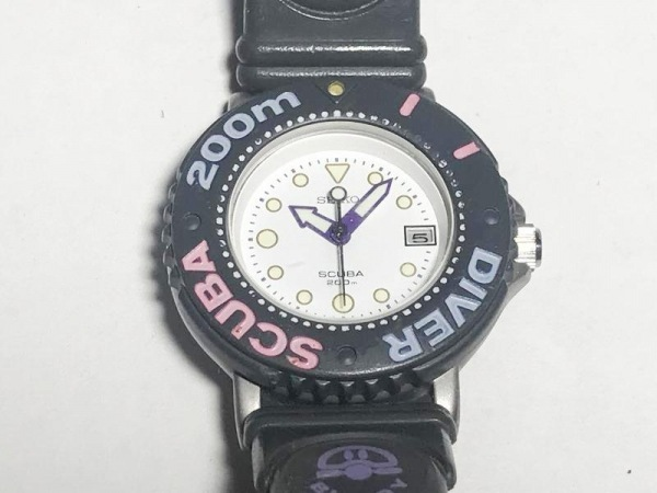 SEIKO(セイコー) 腕時計 スキューバ200 3E35-002B レディース ラバーベルト 白