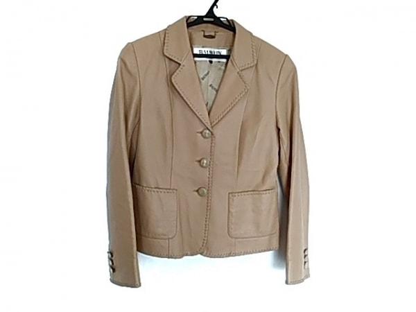 BALMAIN(バルマン) ジャケット サイズM レディース美品  ベージュ レザー