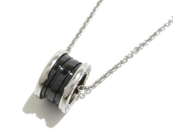 BVLGARI(ブルガリ) ネックレス美品  セーブ・ザ・チルドレン シルバー×セラミック 黒
