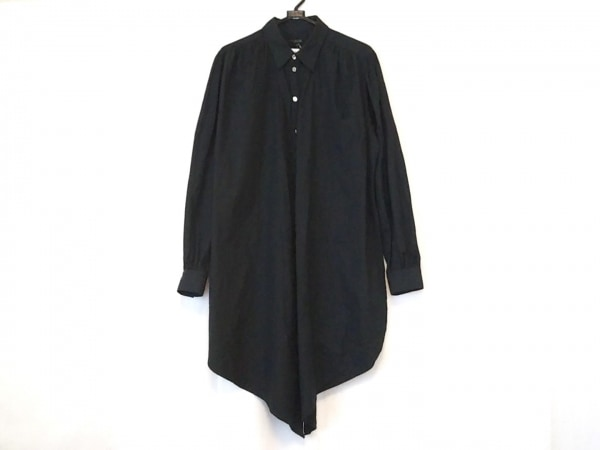 Jean Paul GAULTIER HOMME(ゴルチエオム) シャツ サイズ48 XL メンズ 黒 変形デザイン