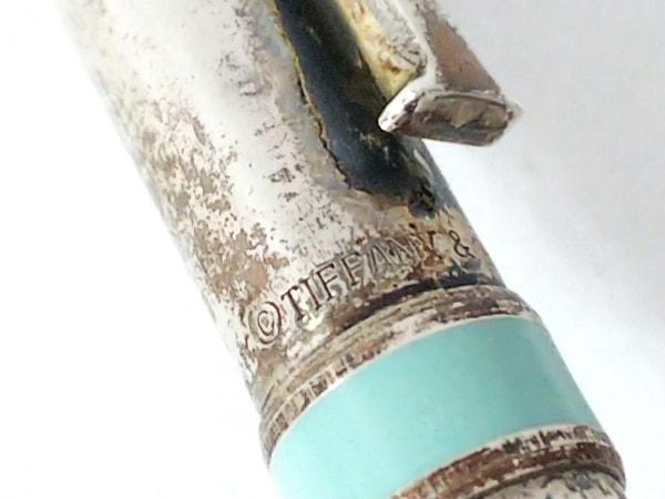 ティファニー ボールペン クラシックT シルバー×ライトグリーン 2