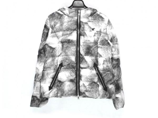 LOVELESS(ラブレス) ダウンジャケット サイズ36 S レディース グレー×白 冬物