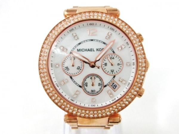 MICHAEL KORS(マイケルコース) 腕時計美品  - MK-5491 レディース ホワイトシェル