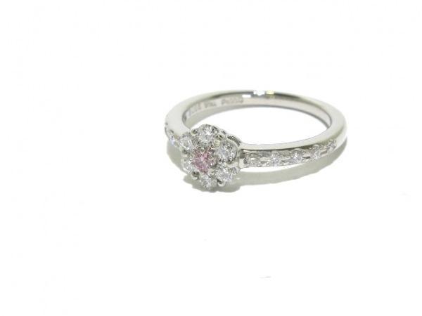 スタージュエリー リング新品同様  Pt950×ダイヤモンド×ピンクダイヤモンド