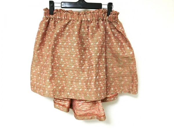 MSGM(エムエスジィエム) スカート レディース ライトグリーン×レッド×マルチ