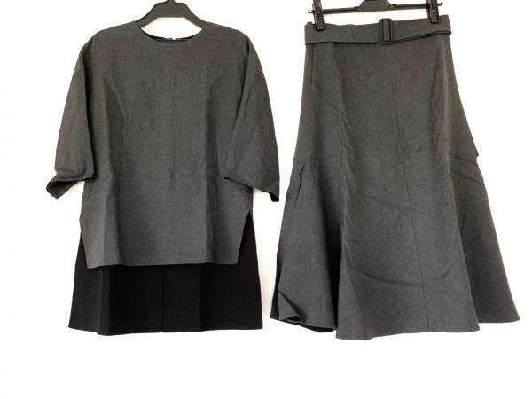 ADORE(アドーア) スカートセットアップ サイズ38 M レディース ダークグレー×黒