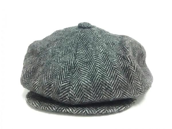 schott(ショット) 帽子 L美品  黒×白 ウール