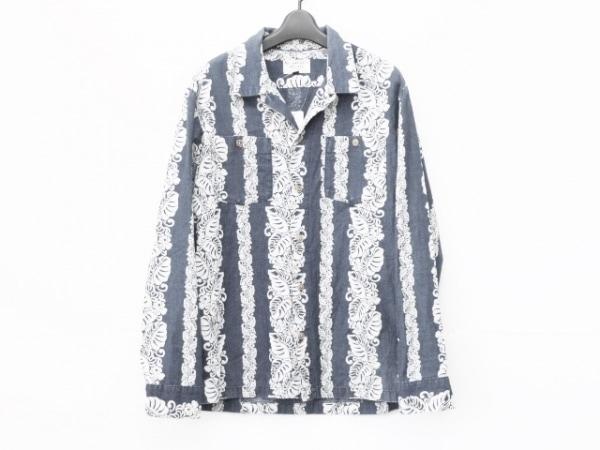 schott(ショット) 長袖シャツ サイズM メンズ ブルー×白