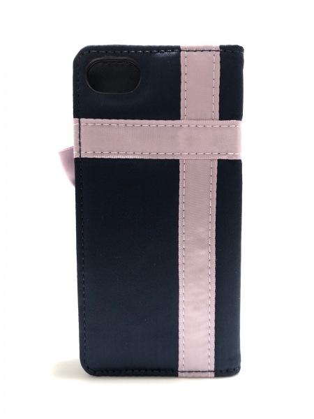 メゾンドフルール 携帯電話ケース美品  ネイビー×パープル×ゴールド 合皮