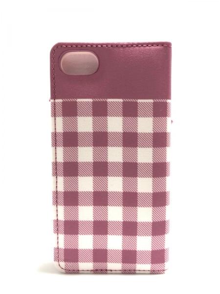 メゾンドフルール 携帯電話ケース美品  ピンク×白×ゴールド ナイロン