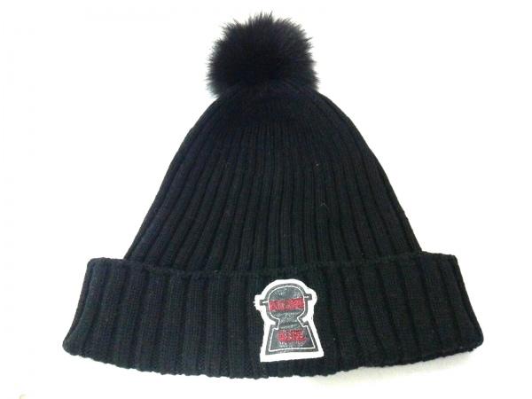 PICONE(ピッコーネ) ニット帽 黒 GIRL ウール×化学繊維