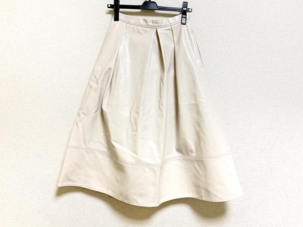 セルフォード ロングスカート サイズ36 S レディース ベージュ フェイクレザー