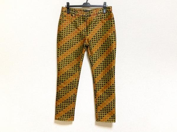 ETRO(エトロ) パンツ サイズ28 L レディース美品  ダークグリーン×黒×レッド