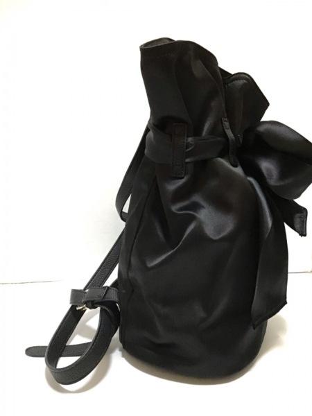 Maison de FLEUR(メゾンドフルール) リュックサック 黒 化学繊維×合皮