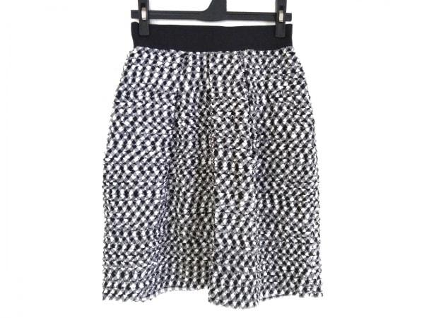 martinique(マルティニーク) スカート サイズ1 S レディース 黒×白 チェック柄