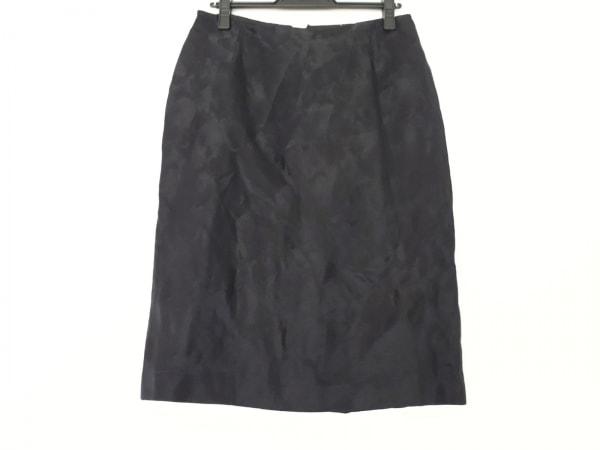 ジャンニヴェルサーチ スカート サイズ40 M レディース美品  黒 ジャガード