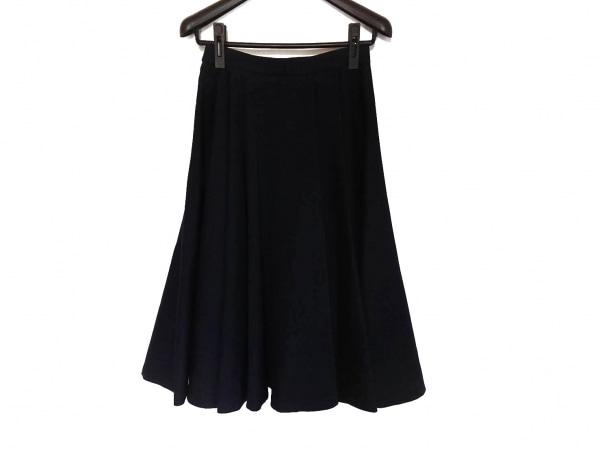 ダイアグラム ロングスカート サイズ38 M レディース美品  ネイビー