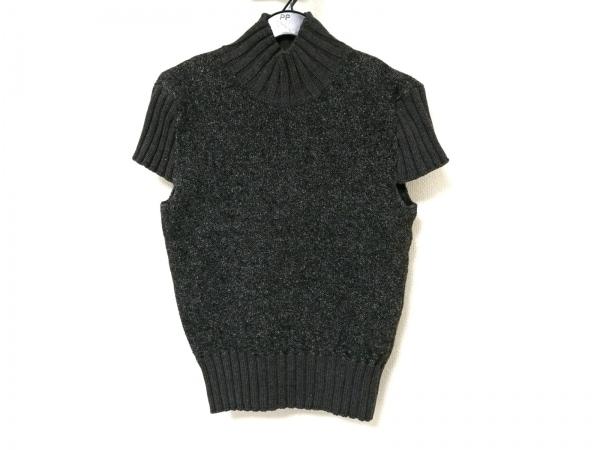 ANAYI(アナイ) 半袖セーター レディース ダークグレー ハイネック