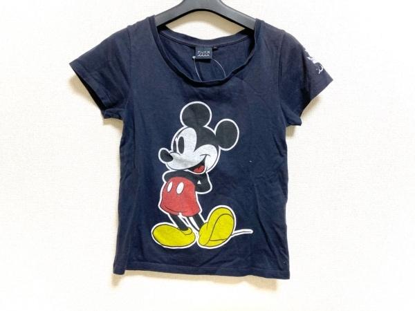 muta(ムータ) 半袖Tシャツ サイズM レディース美品  ダークネイビー×マルチ Disney
