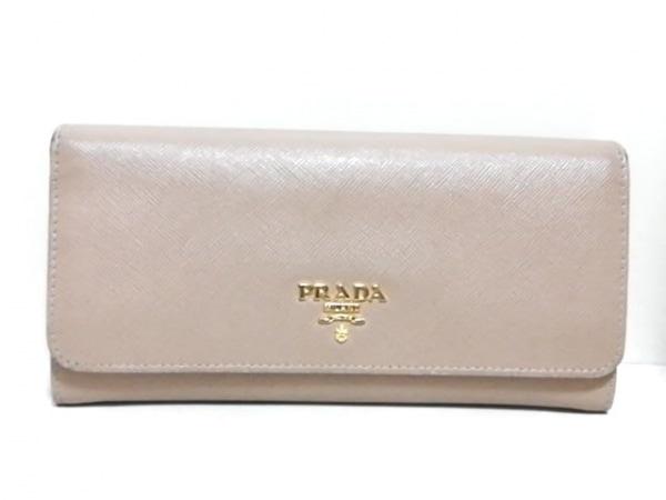 PRADA(プラダ) 長財布 - 1M1132 ベージュ レザー