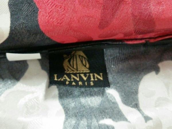 LANVIN(ランバン) 折りたたみ傘 黒×レッド×ベージュ 花柄 化学繊維 2