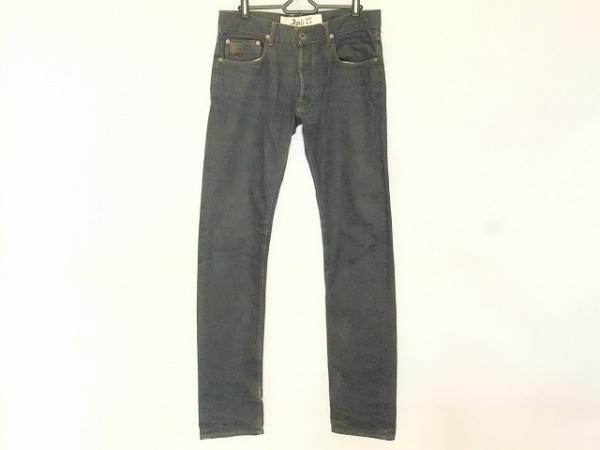 April77(エイプリルセブンティセブン) パンツ サイズ29 メンズ ネイビー ダメージ加工