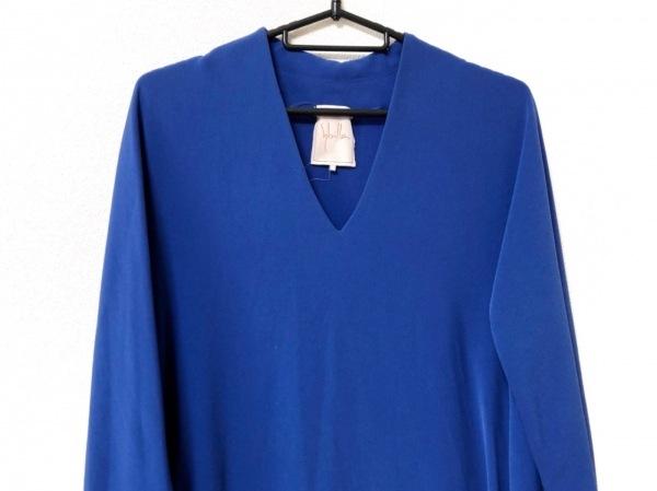 Sybilla(シビラ) ワンピース サイズL レディース美品  ブルー
