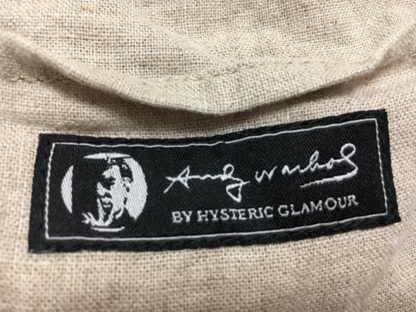 HYSTERIC GLAMOUR(ヒステリックグラマー) ショルダーバッグ ベージュ×黒 ネコ 麻