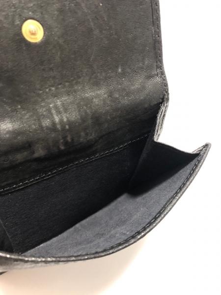 GIVENCHY(ジバンシー) Wホック財布 黒 レザー