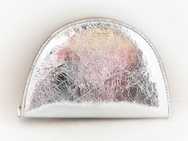 meli melo(メリメロ) 財布 シルバー ラウンドファスナー レザー