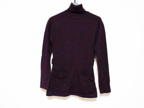 ゴルチエ 長袖セーター サイズ40 M レディース ボルドー タートルネック