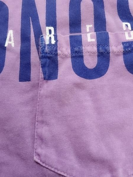 ディースクエアード 半袖Tシャツ サイズXXL XL メンズ パープル×ネイビー×白