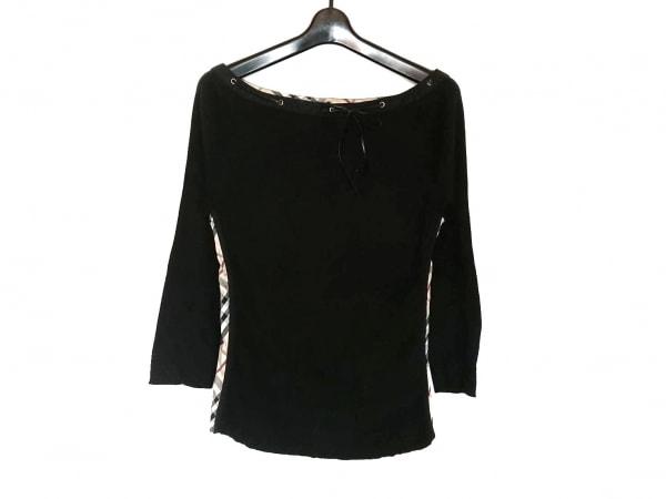 バーバリーロンドン 長袖カットソー サイズ2 M レディース美品  黒×ベージュ×マルチ