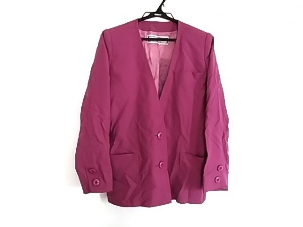 YvesSaintLaurent(イヴサンローラン) ジャケット サイズM レディース美品  ピンク