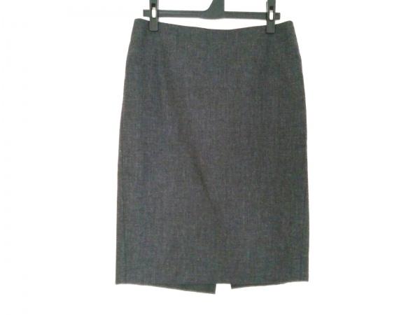 Kiton(キートン) スカート サイズ42 L レディース ダークグレー×グレー