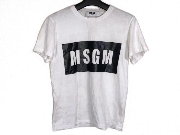 MSGM(エムエスジィエム) 半袖Tシャツ サイズXS レディース 白×黒